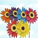 Yunso Windspiel,Sonnenblume Windmühle UV-Schutz & Wasserdicht Windrad 3D Windspiel Garten BalkonTerrasse Dekoration