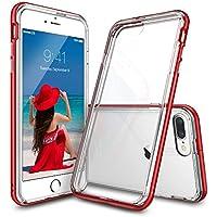 Custodia iPhone 7 Plus, Ringke [FRAME] A Doppio Strato di TPU + PC Bumper [Protezione Goccia] Cancella Torna Shock Assorbimento di Liquidi Bordo Curvo Migliorare Protettivo Paraurti per Apple iPhone 7 Plus 2016 - Red