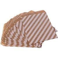 Lunji 25pcs bolsita de Papel de estraza Fundas Regalo para Galletas Galletas Caramelos Navidad, 2#, 12.4cmx17.5cm