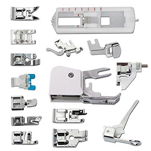 Multifuncional Máquina de Coser Prensatelas Presser Foot Feet Kit - 15Pcs