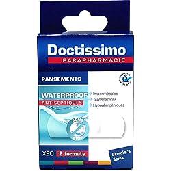 DOCTISSIMO - Apósitos impermeables, impermeables, hipoalergénicos, 2 tacos, 20 apósitos