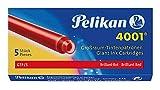 Pelikan 310623 Tintenpatronen 4001 GTP/5, 5-er Pack, brillant-rot