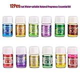 12Pcs / Set Huile Essentielle de Parfum Naturel Relax Kit 100% Pure huiles organiques de diffuseur d'Aromatherapy Soluble dans l'eau de thérapie pour l'humidificateur