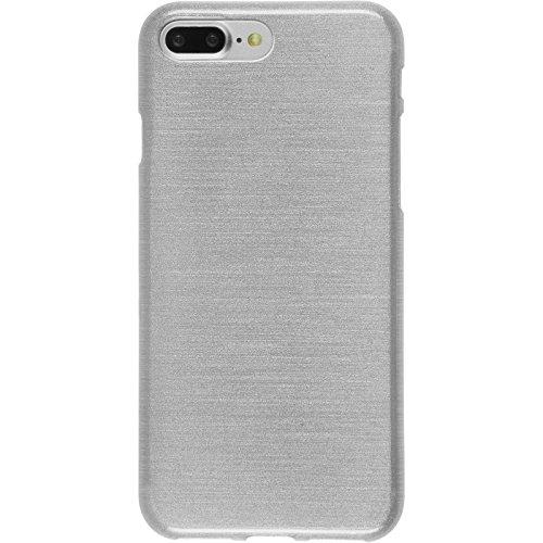 Coque en Silicone pour Apple iPhone 7 Plus - brushed vert pastel - Cover PhoneNatic Cubierta + films de protection blanc