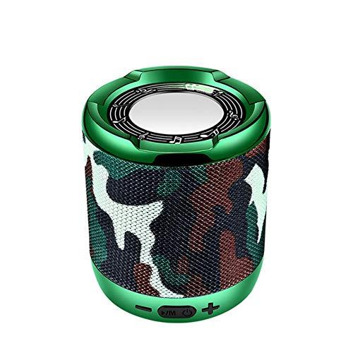 qiyanNew Bluetooth Lautsprecher Portable Sound System 10w Stereo Musik Surround wasserdichte Outdoor Smart Lautsprecher Tf USB Aux + Box-In Portable Lautsprecher ArmyGreen
