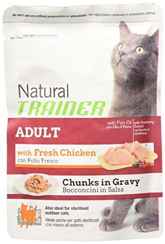 Natural Trainer Adult - Mangime umido  per gatti, Pollo, Gr. 85