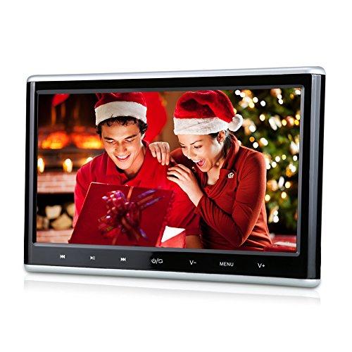 Pumpkin 10,1 Pouce Appuie-Tête Ecran Lecteur DVD Voiture Résolution 1024 x 600 Soutient HDMI 1080P Vidéo USB SD 32 Bits Jeux avec Adaptateur pour Utilisation à la Maison (A)