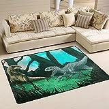 COOSUN Alte Dinosaurier Teppich Rutschfest für Wohnzimmer Schlafzimmer 91.4 x 61 cm, Textil, Multi, 36 x 24 inch
