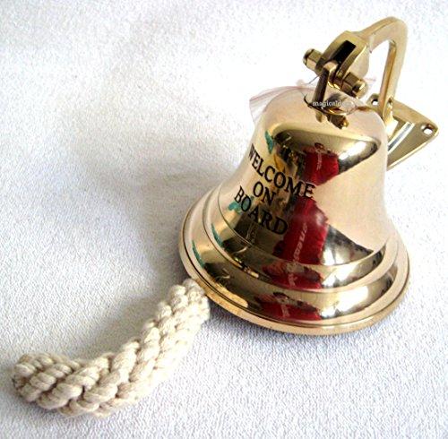 Grandes, campana barco ligero grabado Welcome on board