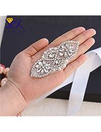 50f975b492d7 Mariage Ceinture Strass appliqué avec cristaux et Pearls-sew ou de colle  pour…
