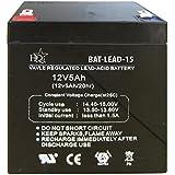 HQ BAT-LEAD-15 Plomo-ácido 5000mAh 12V batería recargable - Batería/Pila recargable (5000 mAh, Plomo-ácido, 12 V, Negro, 1)