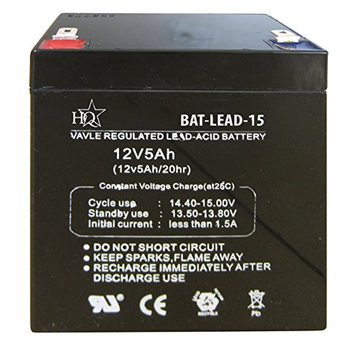 HQ BAT-LEAD-15 Batterie de l'onduleur Sealed Lead Acid (VRLA) 12 V - Batteries de l'onduleur (Sealed Lead Acid (VRLA), Noir, 5000 mAh, 12 V, 1 pièce(s), 1,52 kg)
