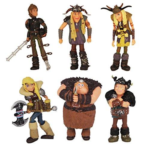 Wikinger 6 Figuren Drachenzähmen leicht gemacht, Dragons, Berk 8 cm by Dreamworks Drachenzähmen leicht gemacht