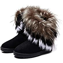 Damen Winter Schneestiefel Winterstiefel Stiefeletten Schlupfstiefel Boots Warm Pelz Stiefel