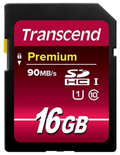 Transcend 16GB SDHC Class 10 UHS-1 Flash Memory Card up to 45MB/s
