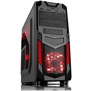 Itek ITGCR03 Cassa per PC da Gaming Midi-Tower, Multicolore