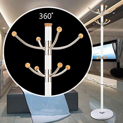 SKC Lighting-Porte-manteau Support de colonne en aluminium Support de crochet en acier inoxydable Base en caoutchouc de crochet amovible Simple cadre de chambre à coucher moderne Facile d'atterrissage