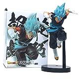Dragon Ball Z Dark Blue Gogeta Vegeta Son Goku Fusion Blue Hair Ver.Figura de acción de Super Saiyan Chocolate Com PVC DBZ 25cm
