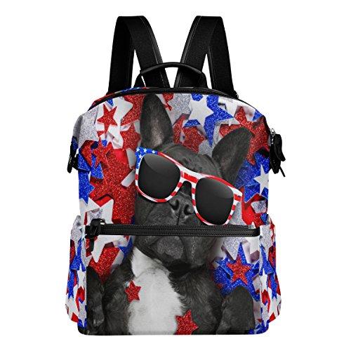 Alaza Pitbull Brille tragen Casual Rucksack Wasserdichte Reise Daypack Student Schultasche