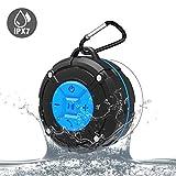 IPX7 Wasserdicht Mini Mobiler Bluetooth Lautsprecher für Smartphone/Laptop/PC/Tablet|Kabellos Tragbar BT Speaker mit Freisprechfunktion und eingebautem Mikrofon|Super Bass & Stereo Sound