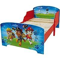 Fun House 712532 Pat Patrouille Lit d'Enfant avec Lattes Bois MDF Bleu 140 x 70 x 59 cm