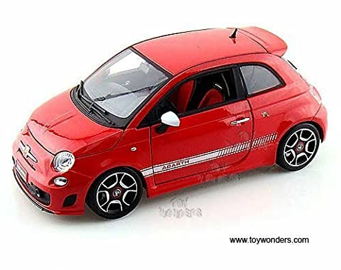 11028r Bburago - Fiat 500 Abarth Hard Top (2008, 1:18, Red) 11028 Diecast Car Model Auto Vehicle Die Cast Metal Iron Toy Transport by diecarstond