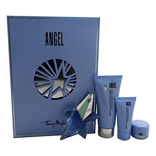 Thierry Mugler Angel 4pc Giftset (25ml Eau de Parfum, 100ml Perfuming Body Lotion, 30ml Perfuming Shower Gel and 15ml Body cream)