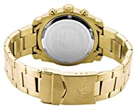 THE INVISIBLE CHEF 17901 - Reloj de cuarzo para mujer, correa de acero inoxidable chapado en oro color dorado de THE INVISIBLE CHEF