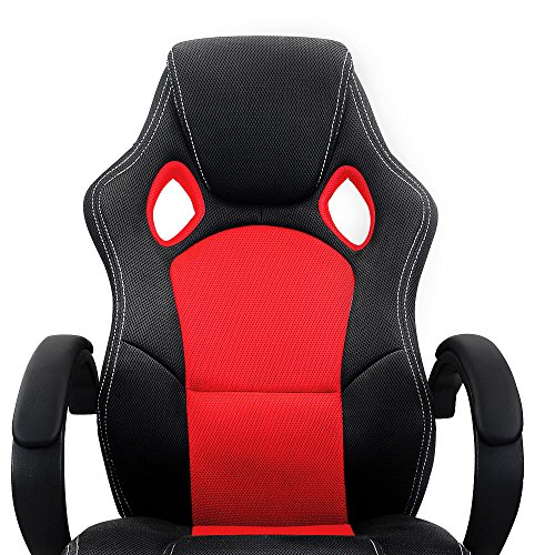 Las mejores sillas rojas de oficina comprarun for Silla escritorio baquet