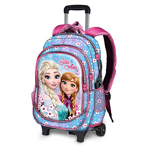 Karactermania frozen floret-running trolley backpack zainetto per bambini, 52 cm, 22 liters, blu (blue)