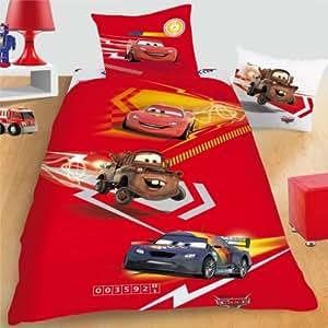 Disney cars 2 parure de lit housse de couette 140 x for Amazon housse de couette