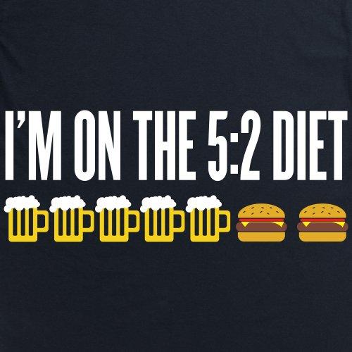 Five Two Diet T-Shirt, Damen Schwarz
