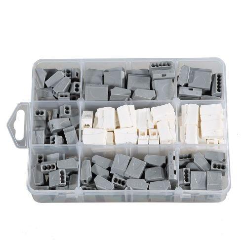 ViD Steckklemmen I Verbindungsklemme GRAU-Sortiment Box 1 - 2,5 mm² 160 Stück
