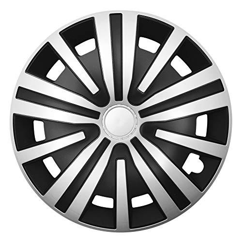 CM DESIGN Spinel Silber Schwarz - 15 Zoll, passend für Fast alle Peugeot z.B. für 307 CC