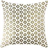 Golden tono Patrón Serie impresión funda de almohada manta funda de almohada decoración para el hogar 45cm x 45cm)