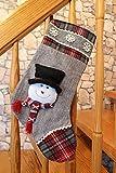 1x nikolausstrumpf/calcetín de Navidad/Botas de Papá Noel/calcetines de Papá Noel/calcetines de Navidad de plástico/Regalos–Calcetín para rellenar sí–de plástico–Diferentes tamaños y varios diseño de selección–Adviento Navidad, peluche, Muñeco de nieve, 35 cm