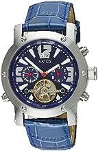 Comprar Aatos PrinosLSBL - Reloj de caballero automático, correa de piel color azul, caja de acero inoxidable