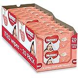 Huggies Soft Skin Baby Wipes - 2 x 10 Packs of 56 Wipes, Total 1120 Wipes