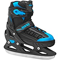 Roces Patines de Hielo Niños plástico Ice Boy dimensionable Negro Black-Blue Talla:30/33