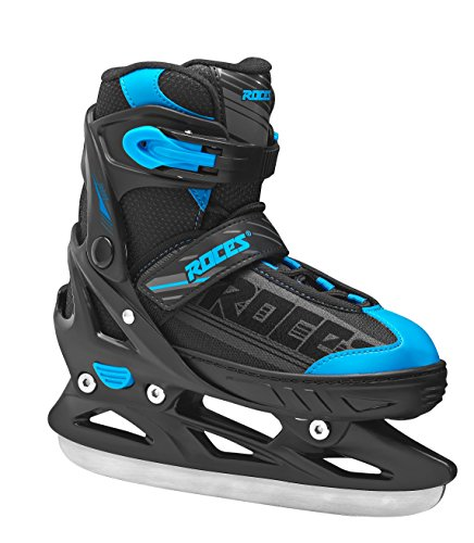 Roces Kinder Schlittschuhe Jokey Ice Boy Größenverstellbar, Black-Blue, 34/37, 450676-001