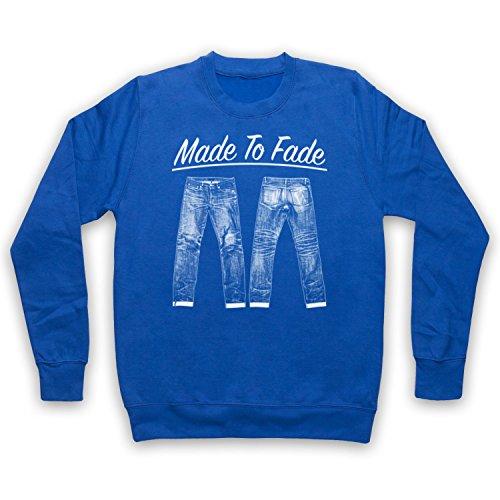 Made To Fade Denim Jeans Erwachsenen Sweatshirt, Blau, Medium (Bekleidung Denim Fade)