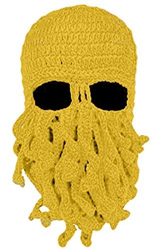 Moonpop Unisex Handarbeit Lustige Oktopus Strickmütze Bartmütze