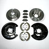 Bremsscheiben Ø 258 mm/Bremsen + Bremsbeläge + Handbremse Zubehör + Spritzbleche für hinten/für die Hinterachse