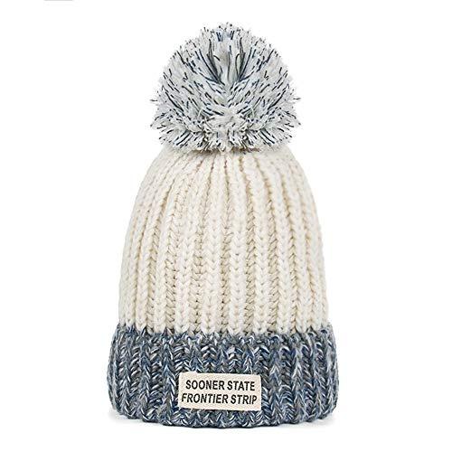 KILTYEN - Warm Winter Velvet Knit Cap for Women, White