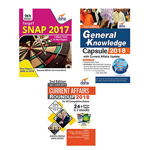 SNAP 2017 Simplified (12 Years Past papers + 5 Mock Tests + General Knowledge/Current Affairs)