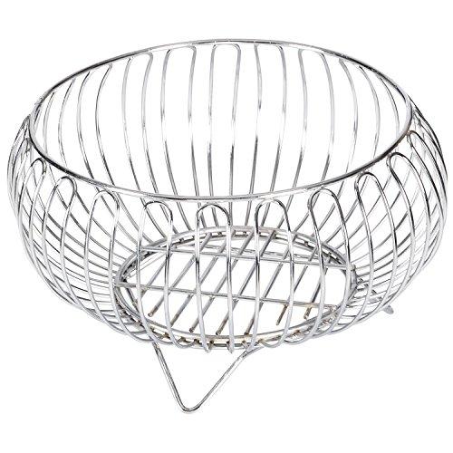 Aakar Kitchen Stainless Steel Heavy Fruit Bowl Basket, 1 Piece, Silver