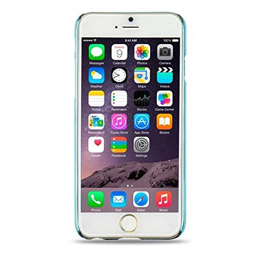 YAN Für iPhone 6 / 6S Num 6 Muster Ultra-dünne Beschichtung Skinning Schutzhülle ( Color : Dark Blue ) Blue