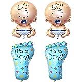 PIXNOR Bebé globos papel globos helio para fiesta de cumpleaños de bautizo bebé ducha