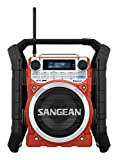 Sangean U4DBT tragbares DAB+ Baustellenradio rot