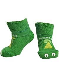 """""""GRIPPA"""" calcetines antideslizantes para niños con diseño dinosaurio, hechos en Gran Bretaña y aprobado por los principales expertos en la salud del pie del Reino Unido"""
